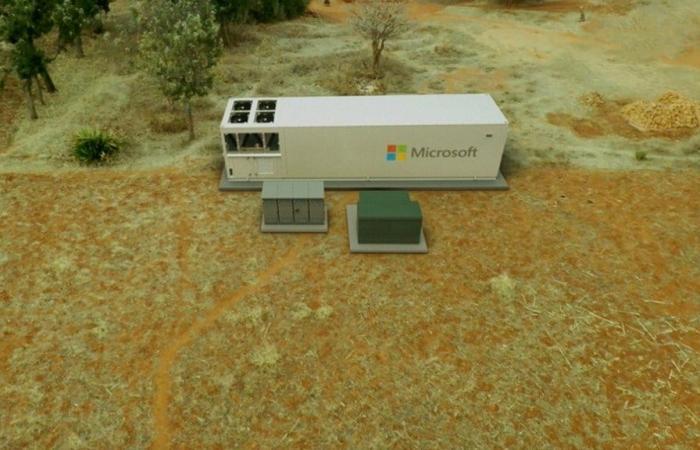 مايكروسوفت بنت مركزًا محمولًا للبيانات في صندوق